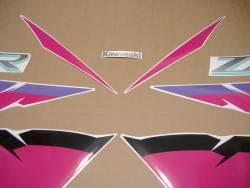 Kawasaki ZXR750 1994-1995 Ninja black/purple decals kit