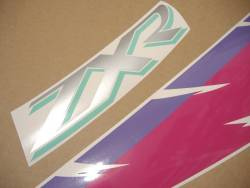 Kawasaki ZXR 750R 1995 black/pink replacement decals set
