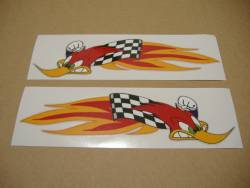 Honda RVT Woody woodpecker logo decals set