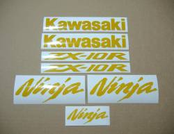 Kawasaki Ninja ZX-10R reflective yellow decal set