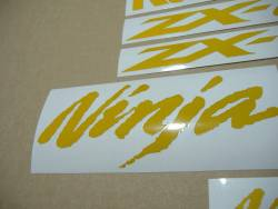 Kawasaki Ninja ZX-10R reflective yellow sticker kit