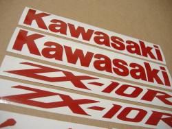 Kawasaki Ninja ZX10R reflective red adhesive emblems