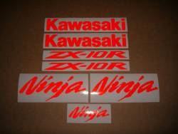 Kawasaki Ninja ZX10R reflective red sticker set