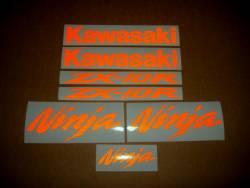 Kawasaki ZX10R Ninja orange light reflective decal set