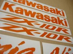 Kawasaki ZX10R Ninja orange signal reflective decals