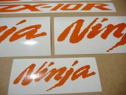 Kawasaki ZX-10R Ninja glow in the dark orange decals