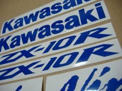 Kawasaki ZX10R Ninja blue signal reflective stickers