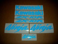 Kawasaki ZX10R Ninja blue light reflective sticker set