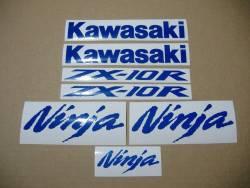 Kawasaki ZX-10R Ninja blue reflective graphics set