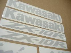 Kawasaki ZX10R Ninja signal light reflective white logo emblems