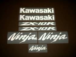 Kawasaki ZX10R Ninja signal light reflective white logo decals
