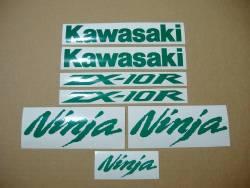Kawasaki ZX-10R 1000 custom light reflective green stickers set