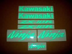 Kawasaki ZX10R Ninja signal light reflective green logo decals