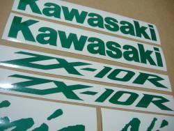 Kawasaki ZX10R Ninja signal light reflective green logo emblems