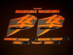 Suzuki Busa 1340 orange light reflective decals