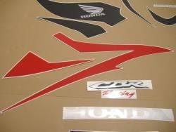 Honda 600RR 2007 red US labels graphics