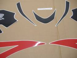 Honda 600RR 2007 red US stickers set