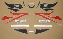Honda CBR 600RR 2007 red reproduction stickers