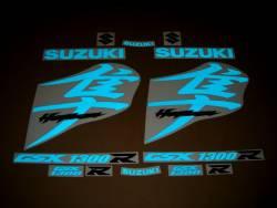 Suzuki Busa 1340 blue light reflective decals
