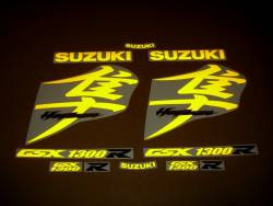 Suzuki Busa 1340 yellow light reflective decals