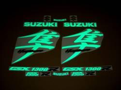 Suzuki Hayabusa MK2 2nd generation reflective green decals