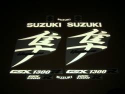 Suzuki Busa 1340 signal reflective white kanji decal set