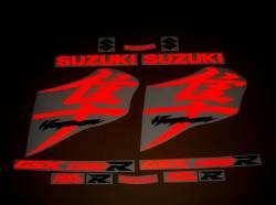 Suzuki Hayabusa mkII signal reflective red kanji decal set
