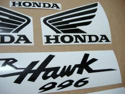 Honda VTR Superhawk 996 2001 red logo emblems