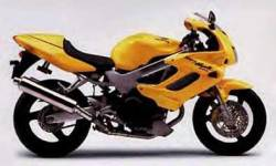 Honda VTR Superhawk 1000F 2000 yellow graphics set