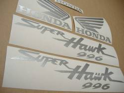Honda Superhawk VTR 1000F 2004 grey replica stickers kit