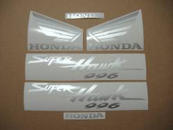 Honda Superhawk VTR 1000F 2004 grey replica decals set