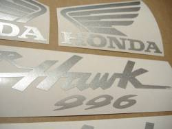 Honda Superhawk VTR 1000F 2004 grey replica logo emblems