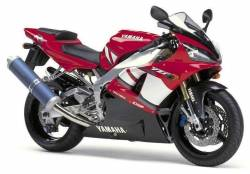 Yamaha yzf r1 2001 2000 rn04 5jj red complete decals set