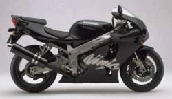 Kawasaki ZX7R Ninja 2000 black restoration decals