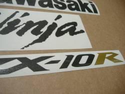 Kawasaki ZX-10R Ninja 2004/2005 green replacement decals