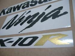 Kawasaki ZX-10R Ninja 2004/2005 green replica logo decals