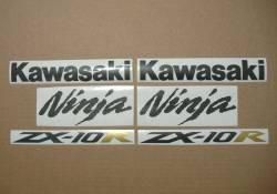 Kawasaki ZX-10R Ninja 2004/2005 green restoration decals