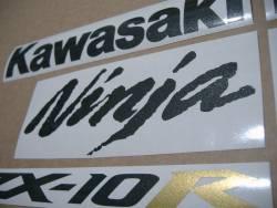Kawasaki ZX-10R Ninja 2004/2005 green reproduction decals