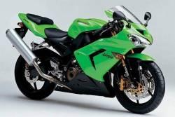 Kawasaki ZX10R Ninja 1st gen. 2004 green replica decals