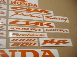 Honda CBR Fireblade light reflective graphics