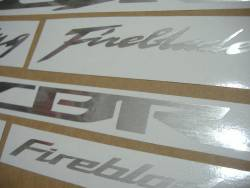 Honda CBR 600rr/1000rr custom brushed grey decals
