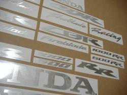 Honda CBR 600rr/1000rr brushed aluminium decals