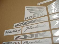 Honda CBR 600rr/1000rr custom brushed stickers