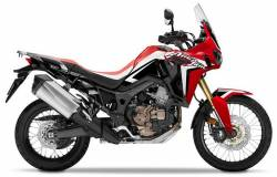 Honda Africa Twin 2016 red replacment decals set
