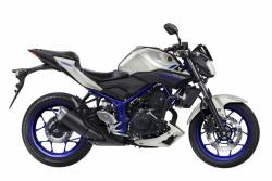 Yamaha MT-03 2015-2016 white/blue replacement graphics