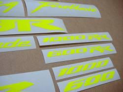 Honda 600rr/1000rr custom fluorescent yellow/green graphics