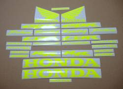 Honda 600rr/1000rr customized signal yellow/green decals set