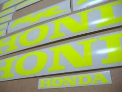 Honda 600rr/1000rr custom signal yellow/green stickers set