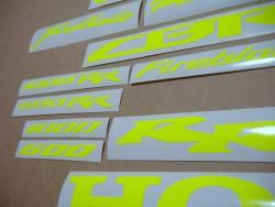 Honda CBR Fireblade customized neon yellow/green decals set