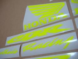 Honda 600rr/1000rr custom neon yellow/green decal kit